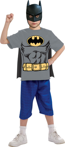 Batman Shirt and Mask Child Boy's Costume - Small 4-6