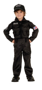Policeman SWAT Child's Costume - Toddler 2T-4T