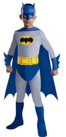 Batman Jumpsuit Cape and Mask Child  Boy's Costume - Small 4-6