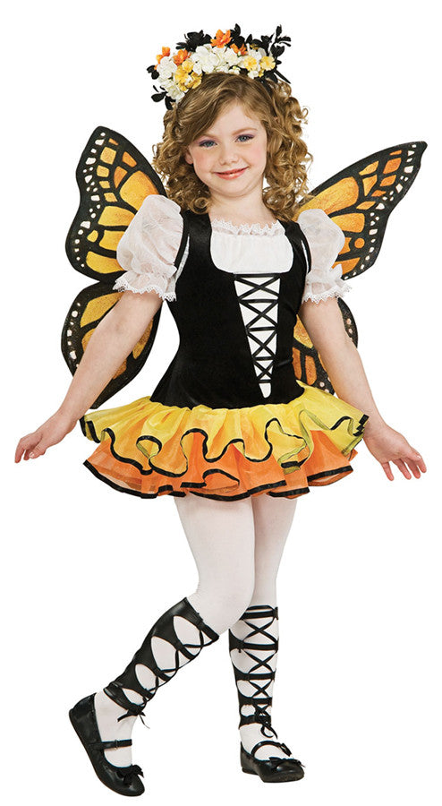 Monarch Butterfly Child Girl's Costume - Small 4-6