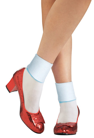 Wizard of Oz Dorothy Adult Women's Slippers Costume Accessory - Small Shoe 5-6