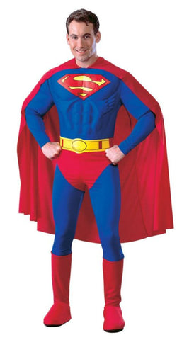 Superman Muscle Chest Deluxe Adult Men's Costume - Small 36-38