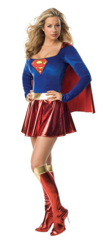 Supergirl 1-Piece Adult Women's Costume - Extra Small 4-6
