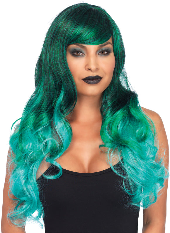 Ombre Jewel Long Wavy Wig Adul