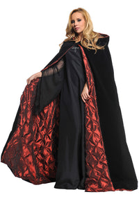 "CAPE DLX VELVET/EMBR LIN 63""IN"