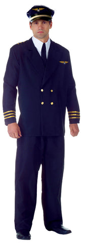 AIRLINE CAPTAIN ADULT BLACK