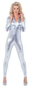 STRETCH JUMPSUIT SILVER LARGE