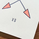 XO Arrows Greeting Card