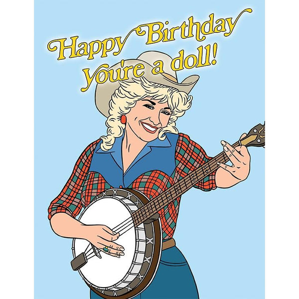 Happy Birthday You're A Doll Greeting Card