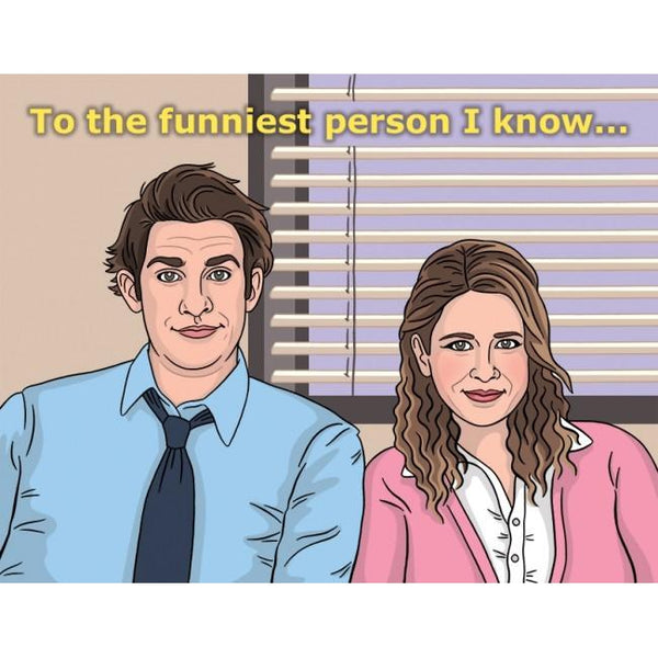 Jim & Pam Greeting Card