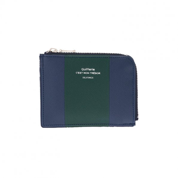 Quitterie Bicolor Half-Zip Case- Dark Blue