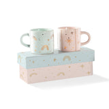 Rainbow Stars Mini Espresso Mugs
