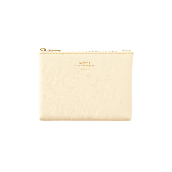 Quitterie Pouch Small Case- Cream