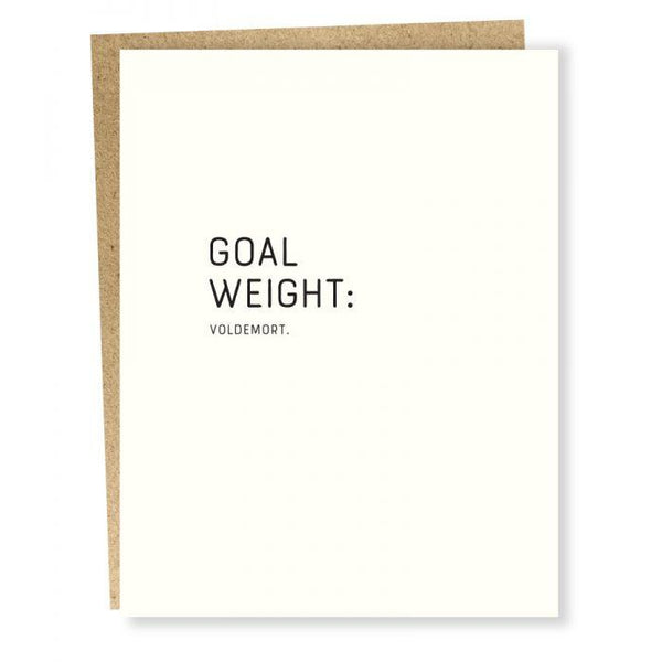 Goal Weight Greeting Card