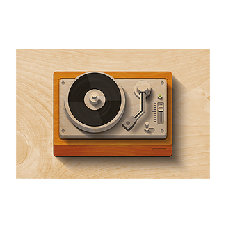 Turntable Wooden Postcard