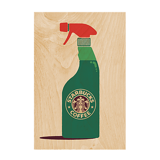 Starbucks Wooden Postcard