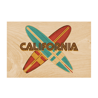 Surf Wooden Postcard
