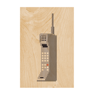 Phone Wooden Postcard