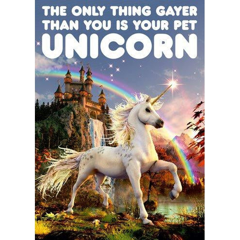 Pet Unicorn Greeting Card