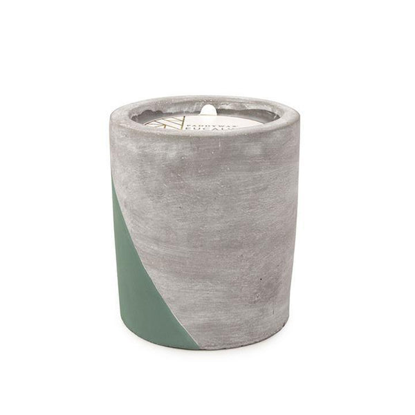 Paddywax Urban Concrete Pot 12oz Eucalyptus + Santal