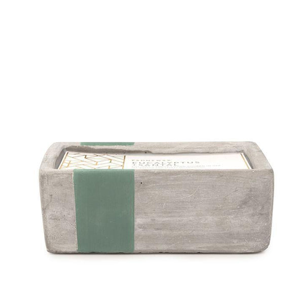Paddywax Urban Concrete Rectangle 8oz Eucalyptus + Santal