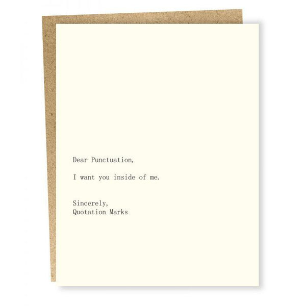 Punctuation/Quotation Marks Greeting Card