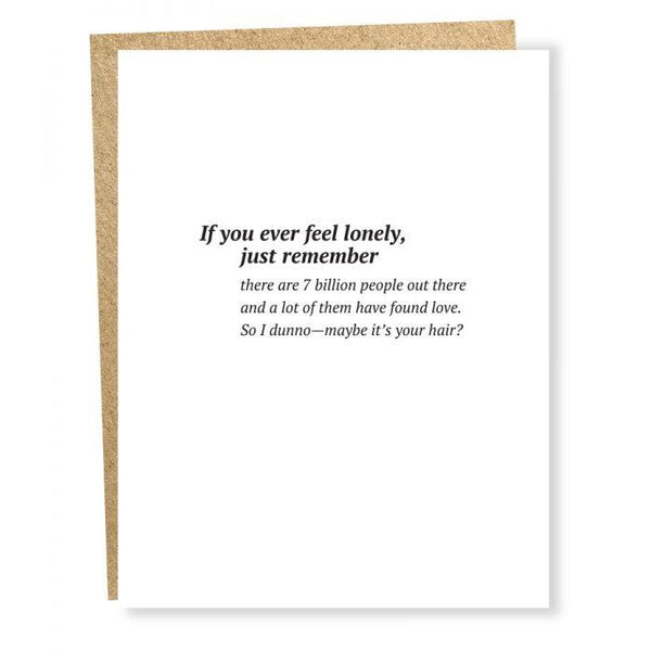 7 Billion People Greeting Card