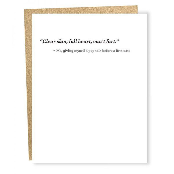 Clear Skin Greeting Card