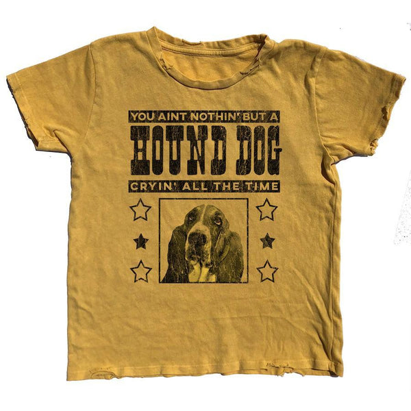 Hound Dog Distressed Tee