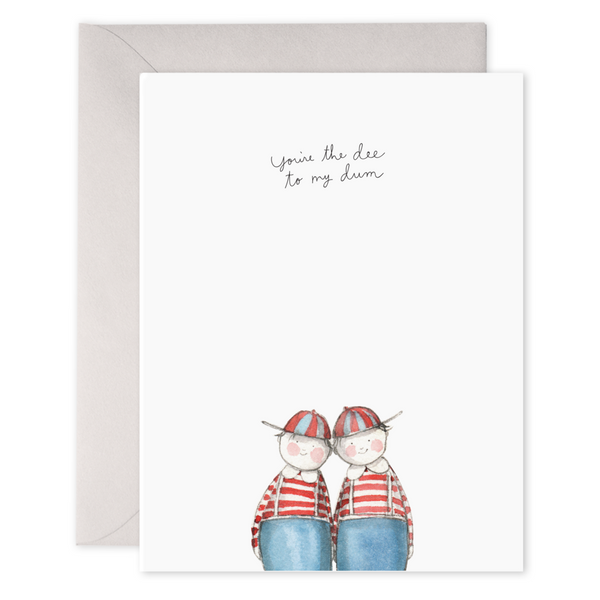 Dee+Dum  Greeting Card