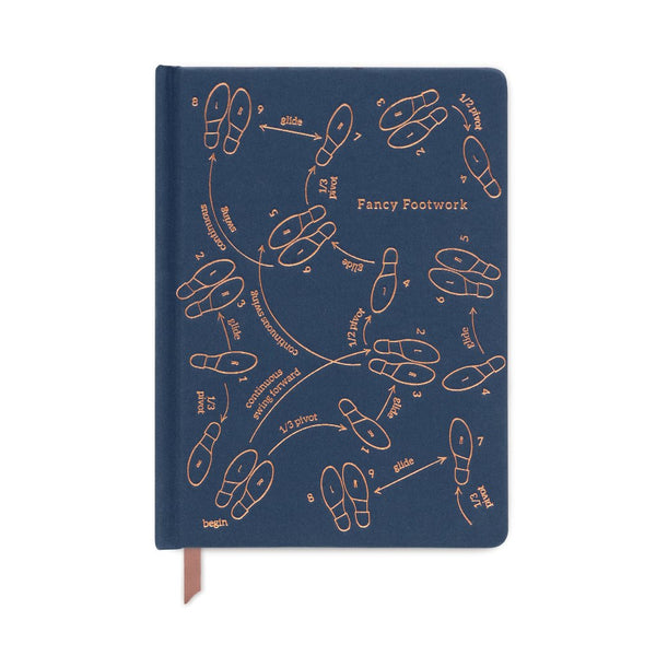 Fancy Footwork Journal in Navy