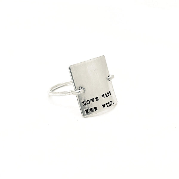 Love Made Her Wild Sterling Silver Ring