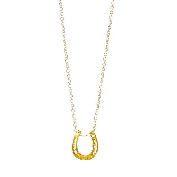 Lucky Horseshoe Gold Necklace
