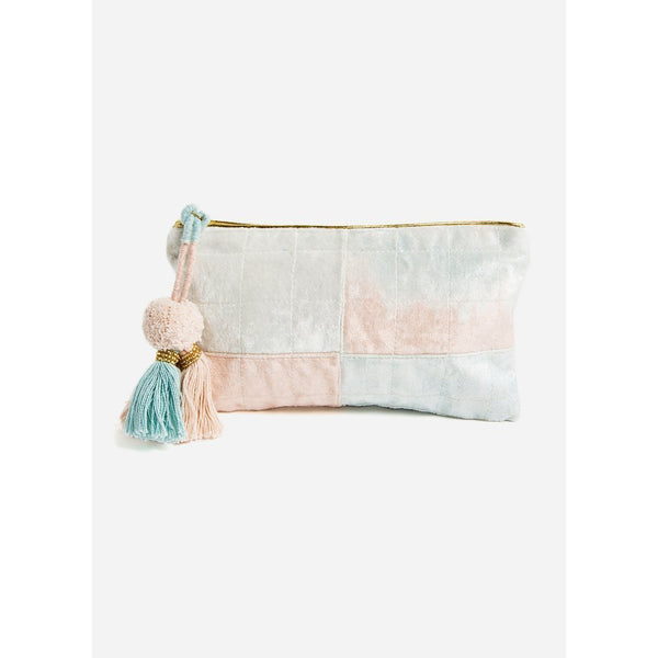 Blue And Blush Fade Medium Pouch