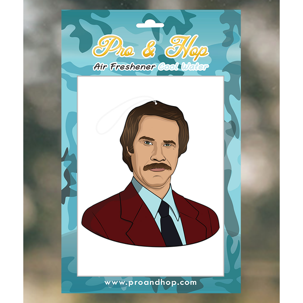 Pro and Hop Ron Burgundy Air Freshener