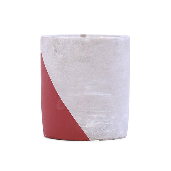 Paddywax Urban Concrete Pot 12 OZ Red Cranberry Rose