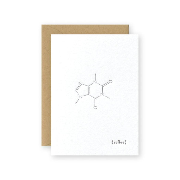 Molecules: Coffee Greeting Card