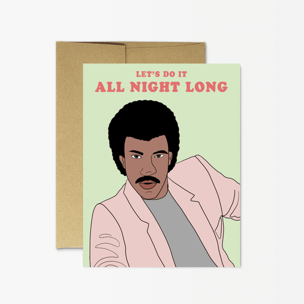 Lionel Richie All Night Greeting Card