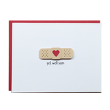 Get Well Soon Bandaid Greeting Card