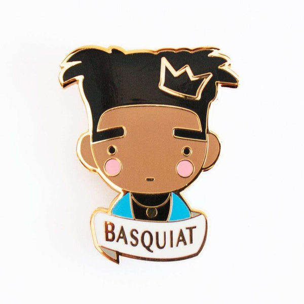 Basquiat Enamel Pin