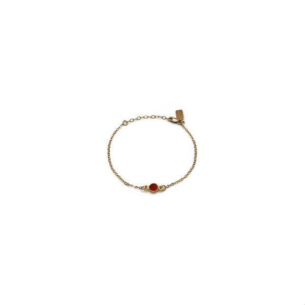 Carnelian Bracelet Gold Fill by Common People(small)