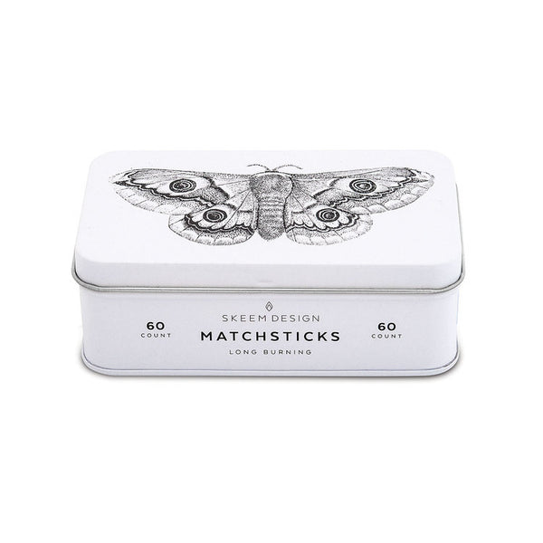 Moth Match Tin Box