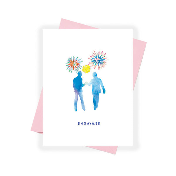 Engayged Greeting Card