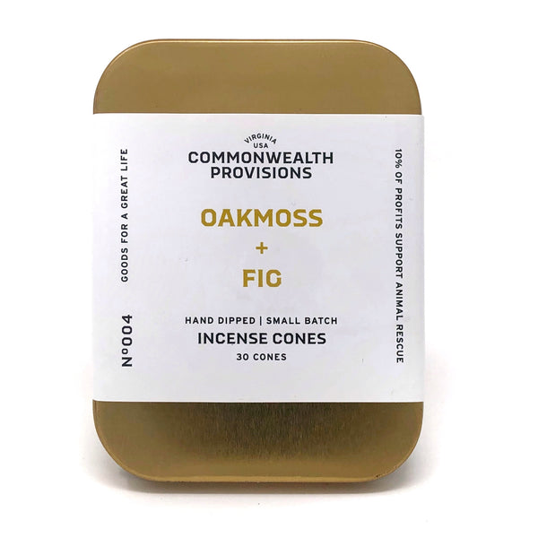 Oakmoss + Fig Incense Cone