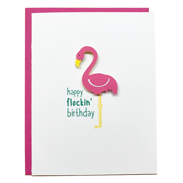 Flockin Greeting Card