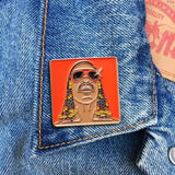 Found Pin- Stevie Wonder Pin