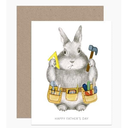 Dad Bunny Greeting Card