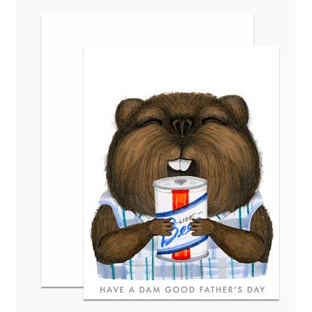 Father's Day Beaver Greeting Card
