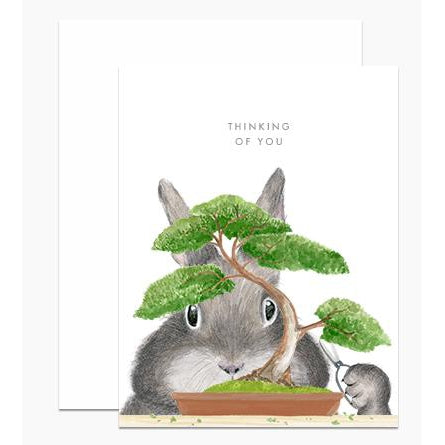 Bonsai Bunny Greeting Card