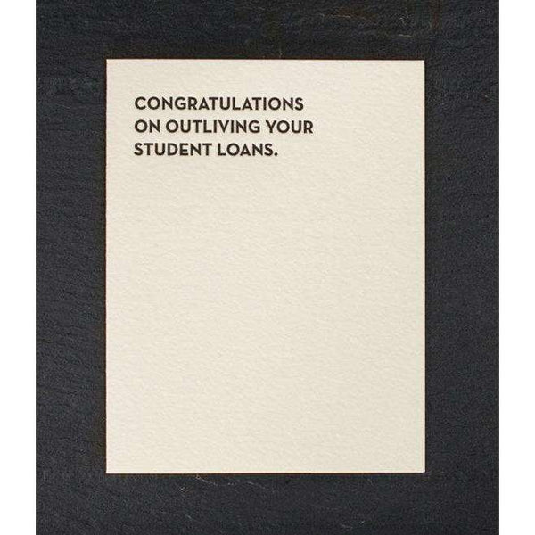 Student Loans Greeting Card